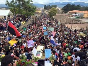 Over 10,000 came to the small town of La Esperanza for the ecumenical funeral of Berta